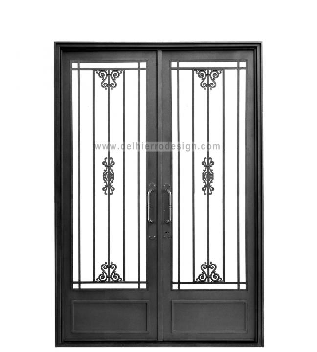 Puerta de entrada linea cl sica de del hierro design homify - Puertas de entrada de hierro ...